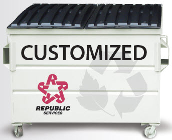 Customized, White Garbage Bin